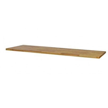 Hardhouten werkblad 204 x 46 x 3,6 cm voor garageserie