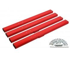Set hoge rode poten voor werkbank PP-T 0445, 0446 en 0447
