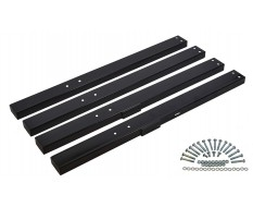 Set hoge zwarte poten voor werkbank PP-T 0445S, 0446S en 0447S
