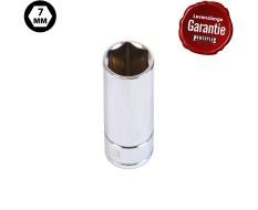 Metrische lange dop 1/4 inch – 7 mm. zeskant dop – 5 cm. lange dopsleutel