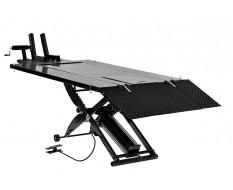 Extra brede en extra lange motorheftafel pneumatisch zwart