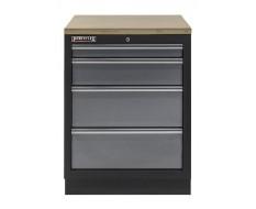 Werkplaatskast met vier laden / werkbank met multiplex werkblad - 68 x 46 x 94,8 cm