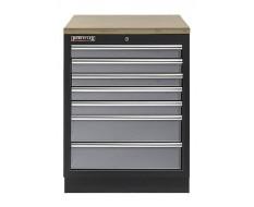 Werkplaatskast met zeven laden / werkbank met multiplex werkblad - 68 x 46 x 94,8 cm