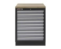 Werkplaatskast met negen laden / werkbank met multiplex werkblad - 68 x 46 x 94,8 cm