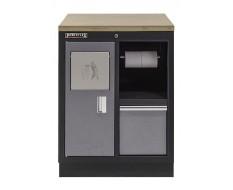 Werkplaatskast met afvalbak / werkbank met multiplex werkblad - 68 x 46 x 94,8 cm
