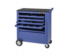 Gereedschapswagen blauw - 4 laden tweezijdig te openen - Werkplaatswagen assistent.