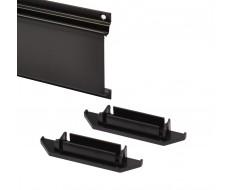 Set van 2 kunststof eindkappen voor ophangstrip PP-T 0850