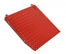 Oprijplaat rood voor heftafel 0331
