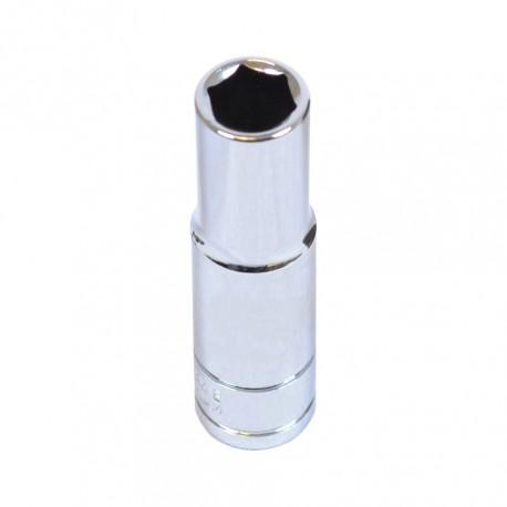Metrische lange dop 3/8 inch – 6 mm. zeskant dop – 6,3 cm. lange dopsleutel