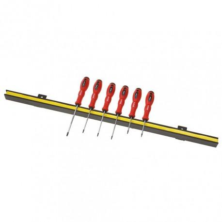 Magneetstrip met torx schroevendraaierset kleine maten 6 delig met levenslange garantie