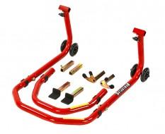 Paddockstand voor- of achterwiel 3 in 1 voor motorfietsen - rood