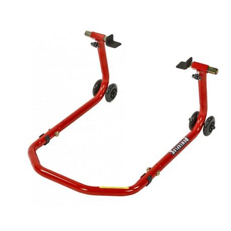 Paddockstand voor achterwiel in breedte verstelbaar - rood