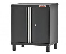 Gereedschapskast vloermodel elegance line hamerslag zwart 68 x 46 x 72 cm met 2 deuren + 1 legbord - werkplaatskast