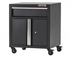 Gereedschapskast vloermodel elegance line hamerslag zwart 68 x 46 x 72 cm met 2 deuren + 1 lade - werkplaatskast