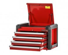 Professionele gereedschapskist rood met 4 laden