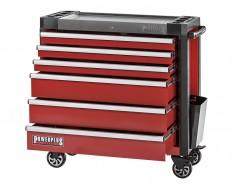 Gereedschapswagen rood 6 laden 97 x 48 x 101 cm