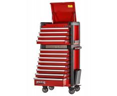 Professionele gereedschapswagenset rood 12 laden