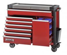 Gereedschapswagen rood 7 laden + lade met magazijnbakjes - 110 x 48 x 101 cm