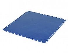 PVC kliktegel blauw 500 x 500 x 6 mm. Vloertegel voor industrieel gebruik - hamerslag anti slip profiel