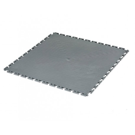 PVC kliktegel grijs 500 x 500 x 6 mm. Vloertegel voor industrieel gebruik - hamerslag anti slip profiel