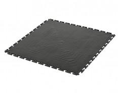 PVC kliktegel zwart 500 x 500 x 6 mm. Vloertegel voor industrieel gebruik - hamerslag anti slip profiel