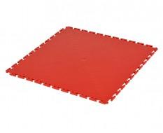 PVC kliktegel rood 500 x 500 x 6 mm. Vloertegel voor industrieel gebruik - hamerslag anti slip profiel