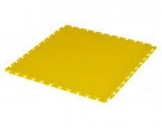 PVC kliktegel geel 500 x 500 x 6 mm. Vloertegel voor industrieel gebruik - hamerslag anti slip profiel
