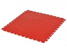 PVC kliktegel rood 500 x 500 x 7 mm. - Industriële werkplaatstegel met ronde noppen