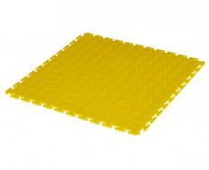 PVC kliktegel geel 500 x 500 x 7 mm. - Industriële werkplaatstegel met ronde noppen