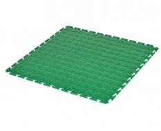 PVC kliktegel groen 500 x 500 x 7 mm. - Industriële werkplaatstegel met ronde noppen