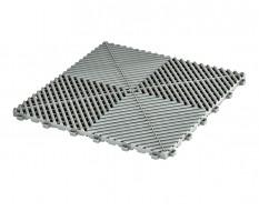 Open kliktegel grijs 400 x 400 x 18 mm. - harde kunststof tegel met open structuur