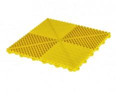 Open kliktegel geel 400 x 400 x 18 mm. - harde kunststof tegel met open structuur
