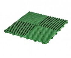 Open kliktegel groen 400 x 400 x 18 mm. - harde kunststof tegel met open structuur