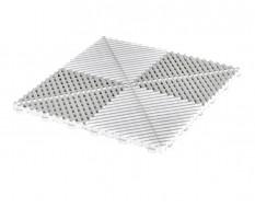 Open kliktegel wit 400 x 400 x 18 mm. - harde kunststof tegel met open structuur