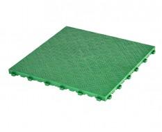 Kunststof kliktegel groen 400 x 400 x 18 mm. - harde kunststof tegel met traanplaatprofiel