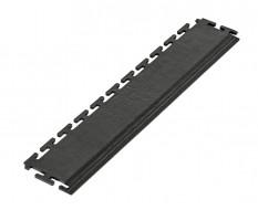 PVC oprijrand zwart - oplooprand 500 x 100 mm. voor Industriële PVC kliktegel