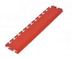 PVC oprijrand rood - oplooprand 500 x 100 mm. voor Industriële PVC kliktegel
