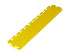 PVC oprijrand geel - oplooprand 500 x 100 mm. voor Industriële PVC kliktegel