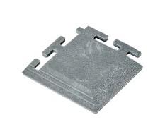 PVC hoekstuk grijs 100 x 100 x 6 mm. voor Industriële kliktegels 1811 en 1812