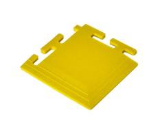 PVC hoekstuk geel 100 x 100 x 6 mm. voor Industriële kliktegels 1811 en 1812