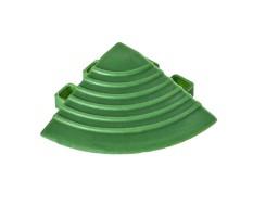 Kunststof hoekstuk groen - eindkap 60 x 60 x 18 mm. met ronde hoek voor kliktegel 1810 + 1813