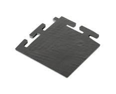 PVC hoekstuk zwart 100 x 100 x 6 mm. voor Industriële kliktegels 1811 en 1812