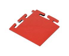 PVC hoekstuk rood 100 x 100 x 6 mm. voor Industriële kliktegels 1811 en 1812