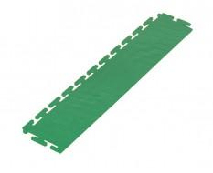 PVC oprijrand groen - oplooprand 500 x 100 mm. voor Industriële PVC kliktegel
