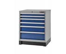 Werkplaatskast blauw met 6 laden 72 x 57 x 90 cm