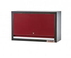 Wandkast / hangkast rood met gasgeveerde klep 72 x 28 x 40 cm