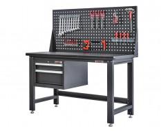 Werkbank voor elektro – montagetafel voor elektronica met gereedschapsbord en ladenblok