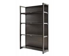 Magazijnstelling grijs antraciet - 120 x 46 x 200 cm met gereedschapsbordprofiel
