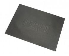 Zachte dunne non-woven foam mat met logo 570 x 410 x 2,5 mm voor lade gereedschapswagen