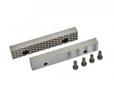 Set van 2 stuks 100 mm verwisselbare geharde bekken voor bankschroef 1617C incl. 4 schroeven